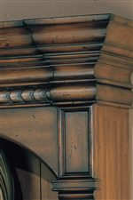 Heavy Top Molding Features Detailed Carving