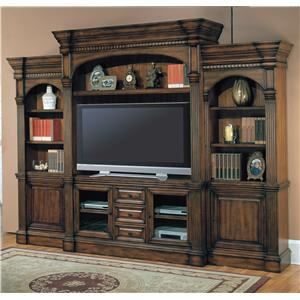 Parker House Genoa 3 Piece Entertainment Center with Console and Hutch