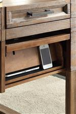 Writing Desk Power Center with Flip Up Drawer Front