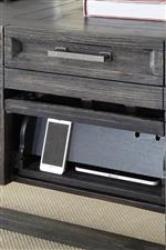 Desk Power Center with Flip-up Drawer Front