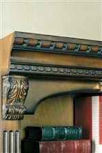 Carved Acanthus Leaf Details, Thick Dentil Molding, and Reeded Pillasters are Found Throughout the Collection