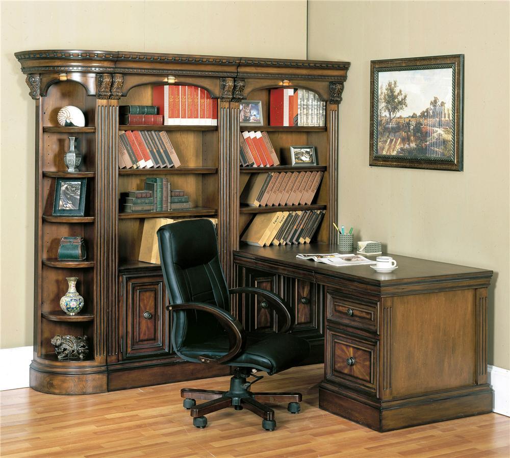 Parker House Huntington Corner Bookcase Wall And Desk Office Unit Furniture Mart Colorado L Shape Desks Denver Northern Fort Morgan