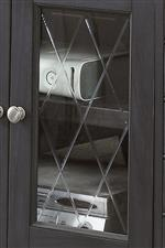 X-Pattern Design on Glass Doors
