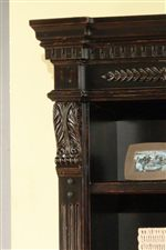 Carved Pilasters & Crown Create a Traditional Look