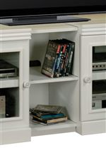 Expandable Console Provides Optional Open Shelving