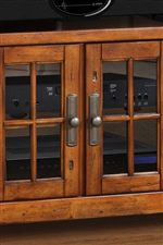 Wood Tracery on Glass Doors