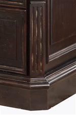 Fluted Pilasters and Traditional Case Moulding