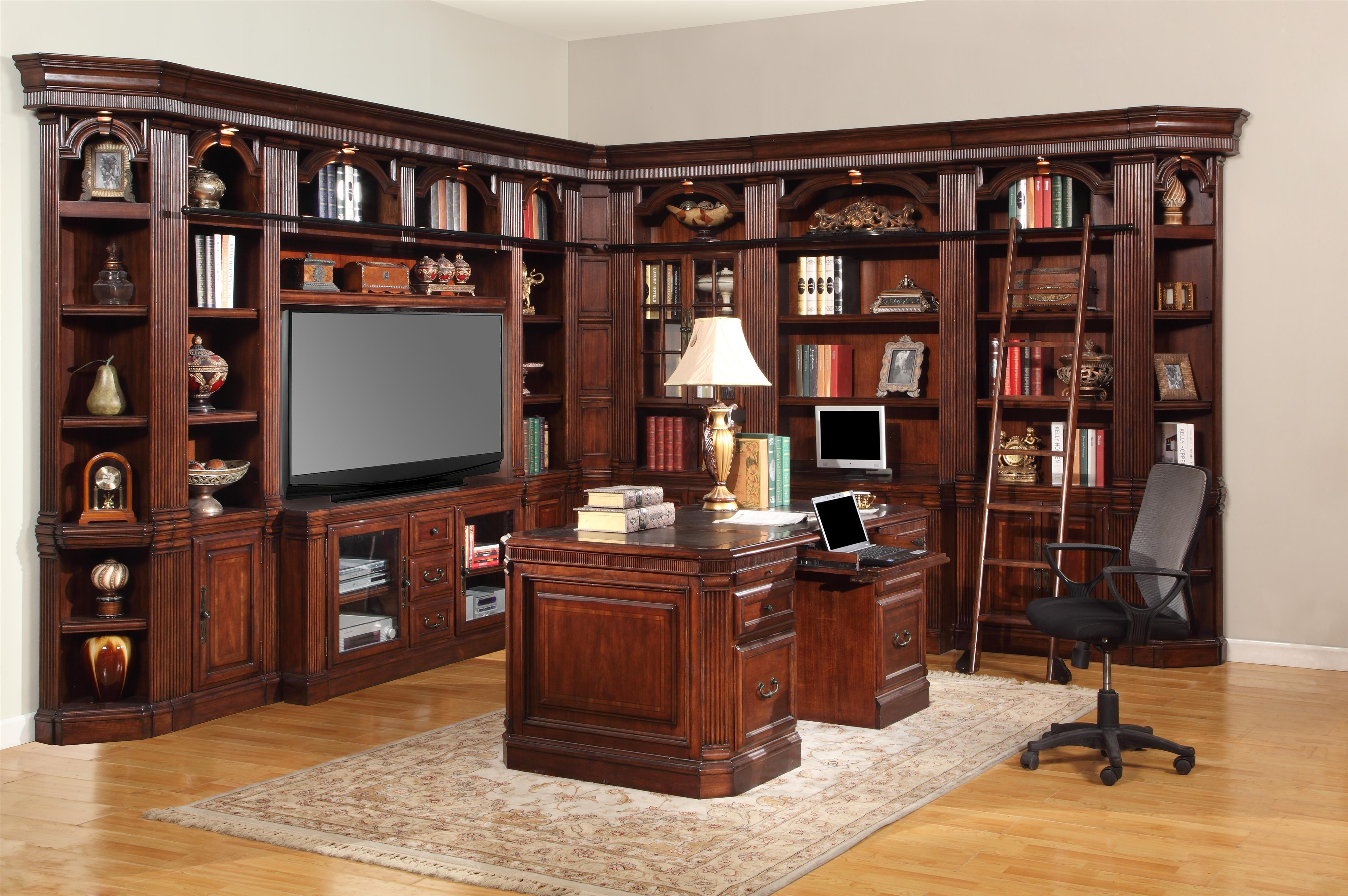 Parker House Wellington 6 Piece Library Bookshelf with 60\