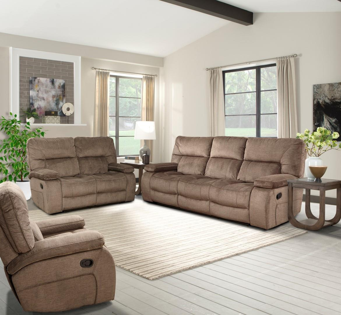 Parker Living Chapman Casual Triple Reclining Sofa With Pillow Arms    Wayside Furniture   Reclining Sofas