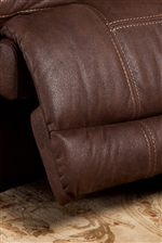 Cozy Reclining Footrest with Topstitching