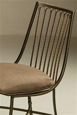 Pastel Minson Victoria Upholstered Side Chair with Slats