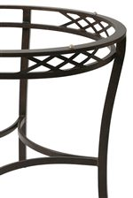 Decorative Crisscross Patterns and Base Stretcher Bring Simple, Sophisticated Style to the Leg Table Base