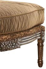 High Resiliency, Foam Seat Cushions Sit Above Exposed Wood Legs, Adding Plush Cushioned Comfort to Traditional Design