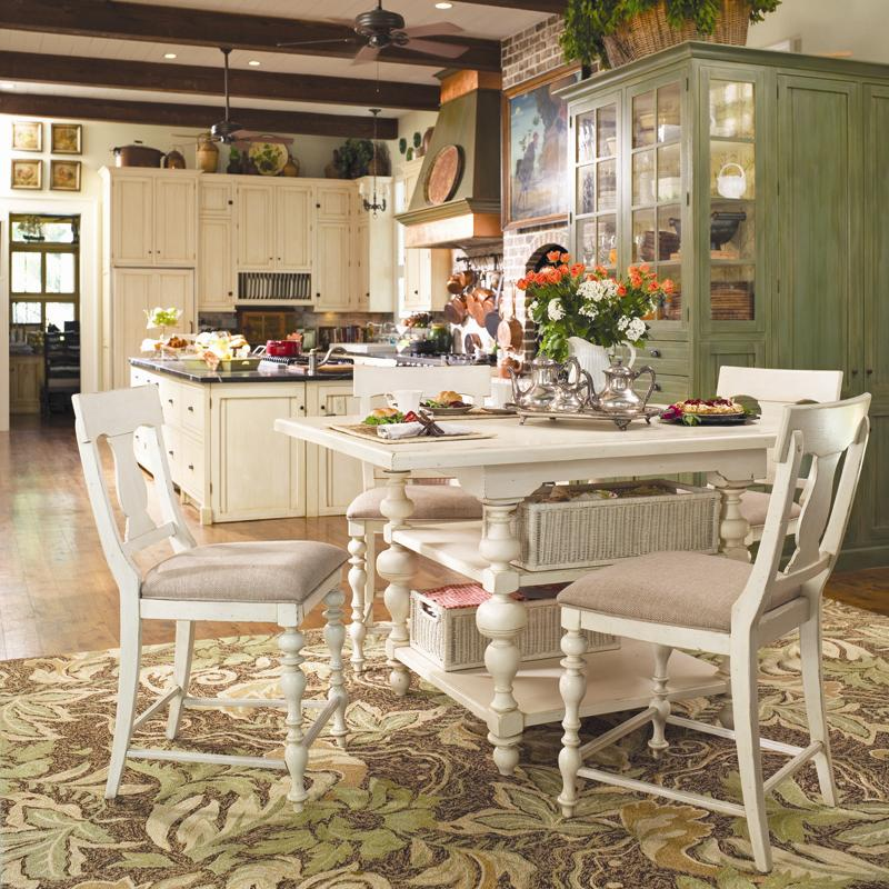 Paula Deen By Universal Paula Deen Home Counter Height Kitchen Gathering  Table With Storage Baskets | Howell Furniture | Pub Tables