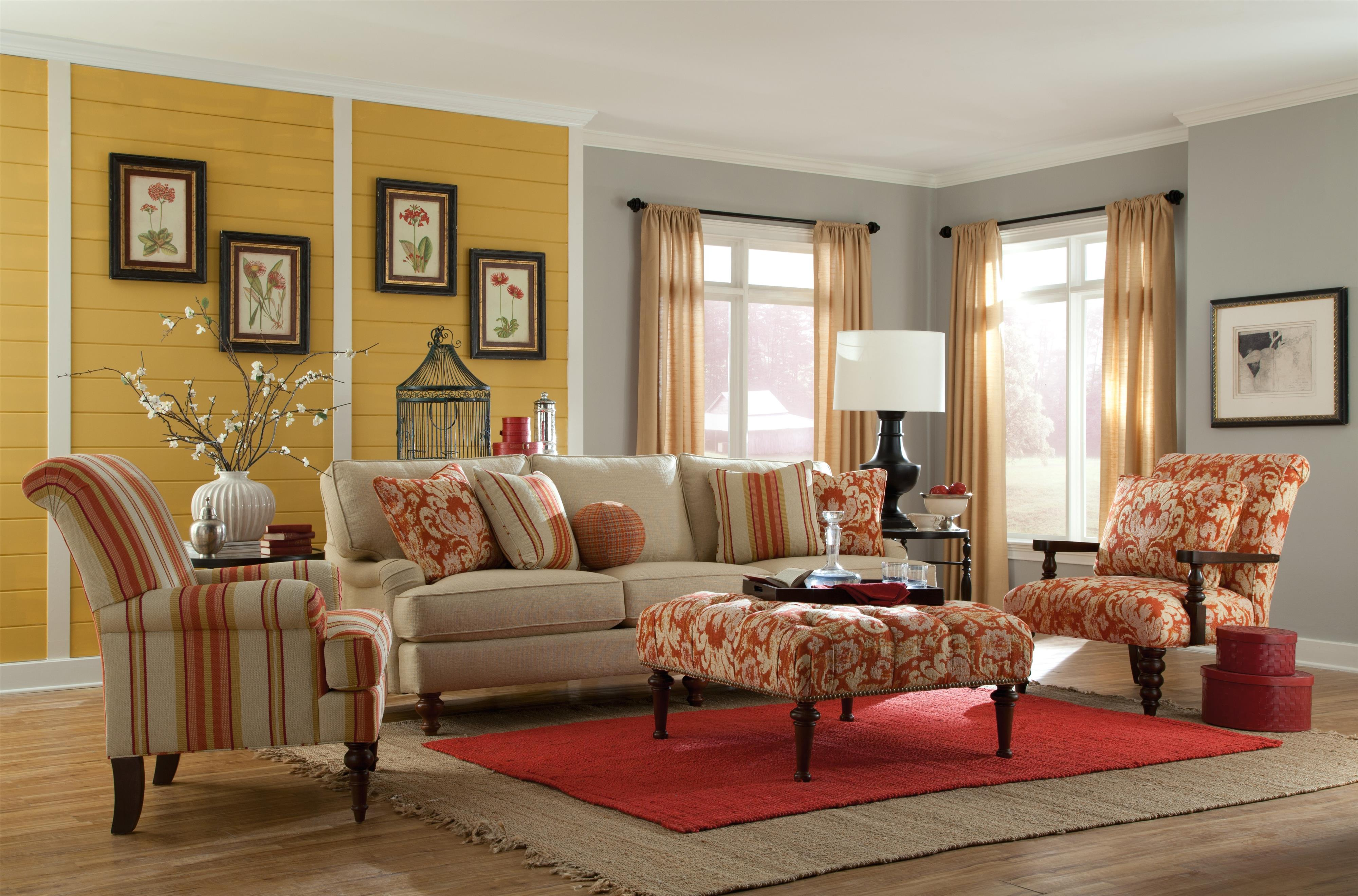 Wonderful Paula Deen By Craftmaster P734300 Sofa With Chaise Lounge And English Arms  | Sprintz Furniture | Sofa Nashville, Franklin, And Greater Tennessee