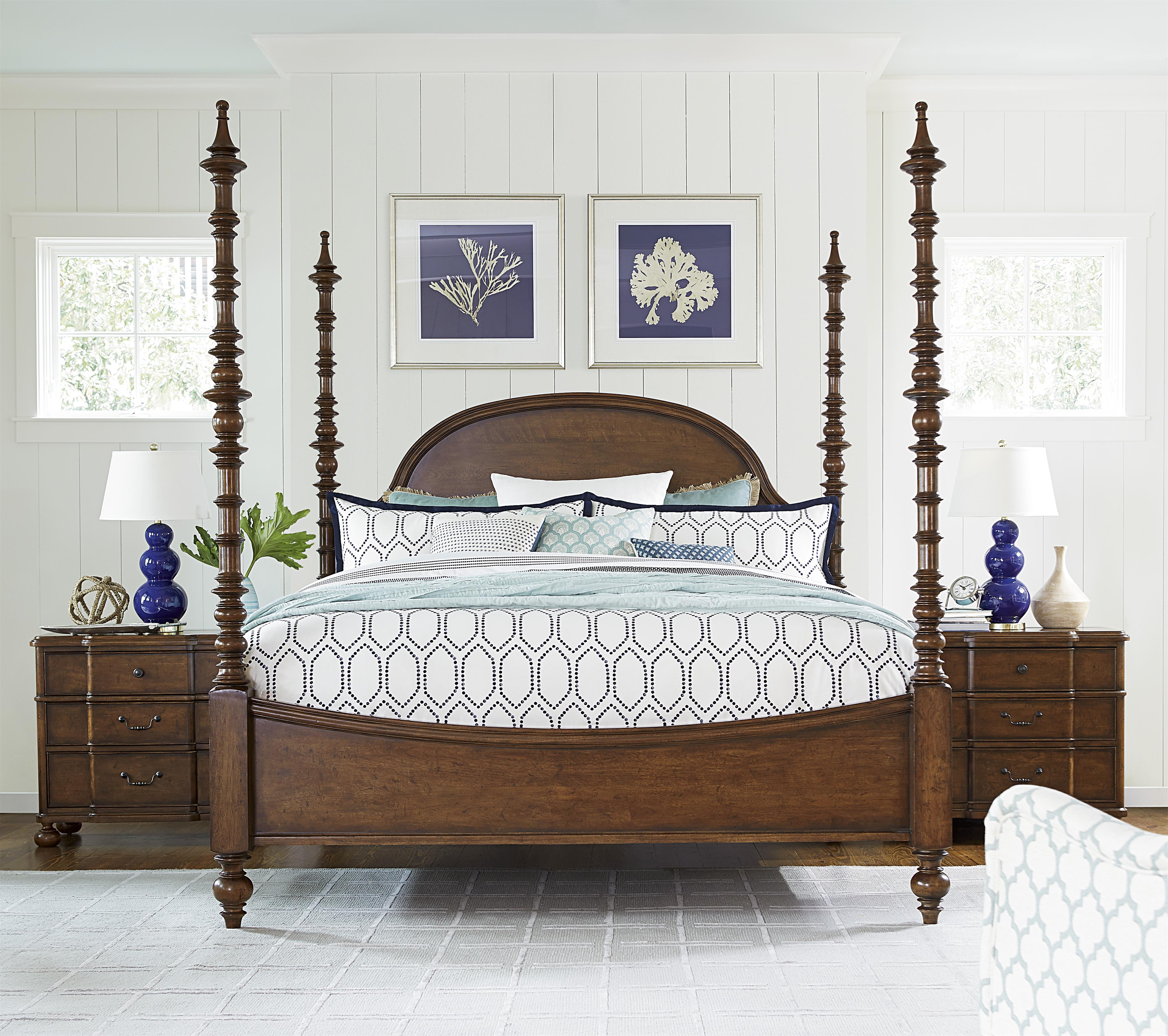 Paula Deen by Universal Dogwood California King Bedroom Group - Item Number: 596 CK Bedroom Group 2