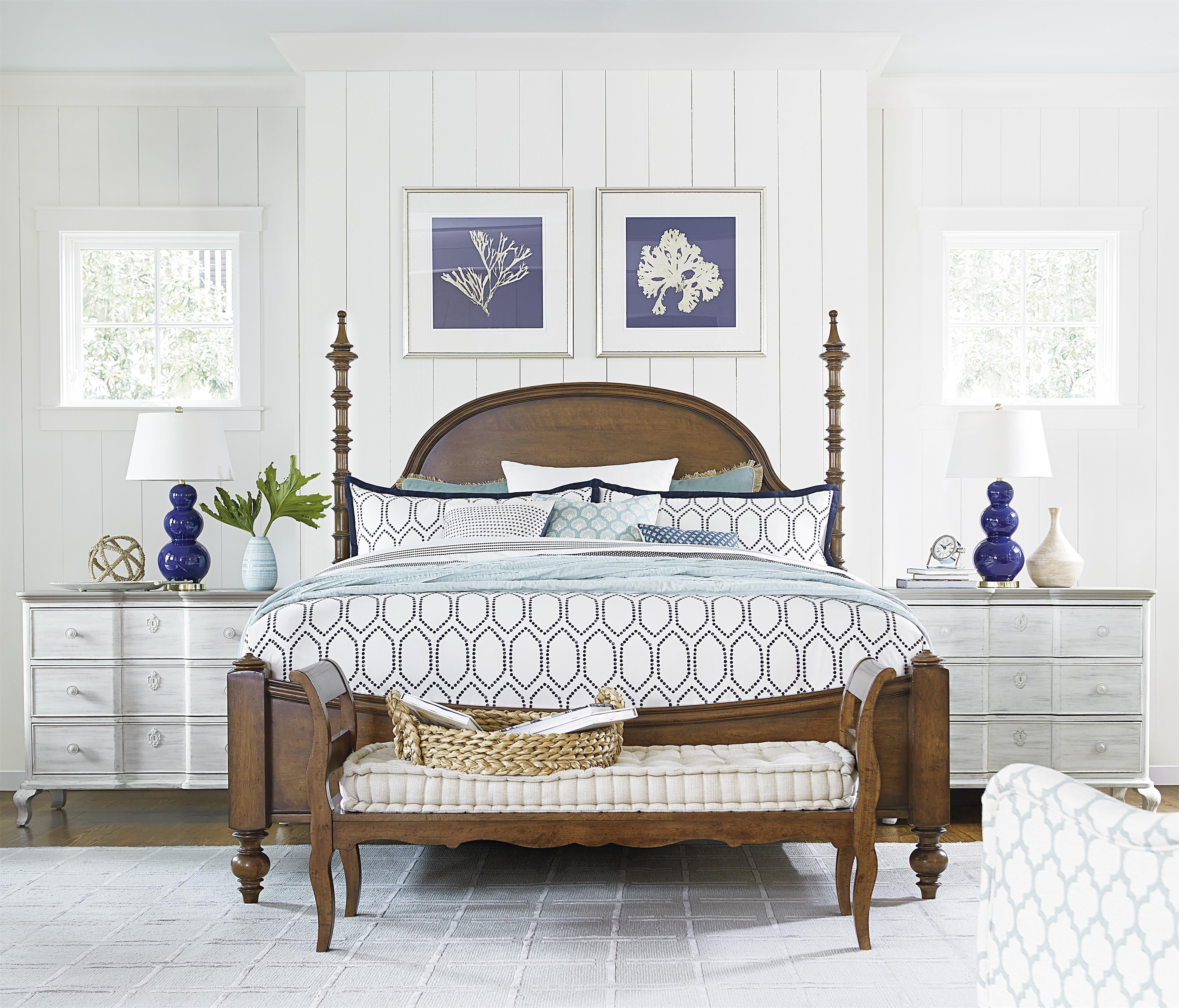 Paula Deen by Universal Dogwood California King Bedroom Group - Item Number: 596 CK Bedroom Group 3