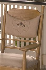 Down Home Chairs Feature a Hand-Tie Back Cushion with the Paula Deen Logo