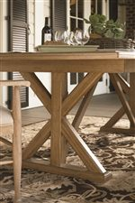 Trestle Base of the Family-Style Table