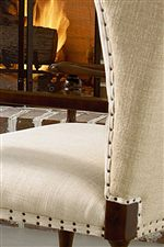 Spaced Tacks Accentuate a Decorative Gimp Border on Select Upholstered Accents