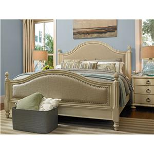 Morris Home Furnishings Riverside 3 Drawer Bedside Chest with Serpentine Shaping