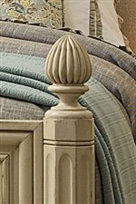 The Low Post Bed Features Expertly Crafted Faceted Teardrop Finials