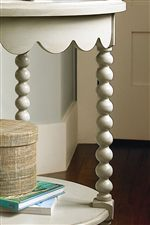 Bobbin Legs and Scallop Detail Add Character to Accent Pieces