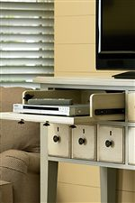 Drop-Down Drawers Make Perfect Homes for DVD Players and Game Consoles