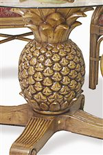 Carved Pineapple Table Base.