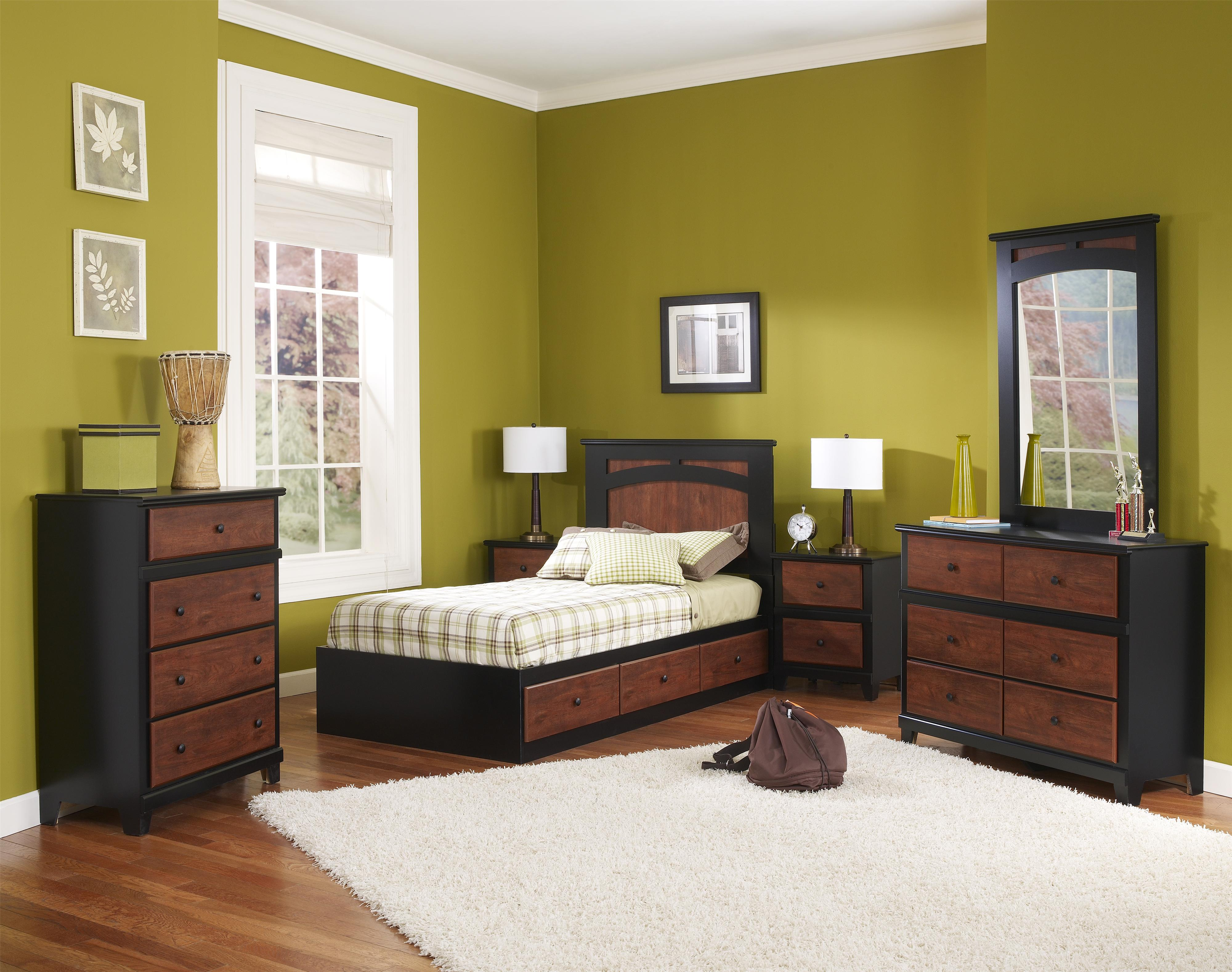 Perdue Bedroom Furniture Perdue 49000 Series Casual Two Tone 5 Drawer Chest Boulevard