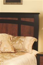 Decorative Black Framing Over Cinnamon Panel Headboard