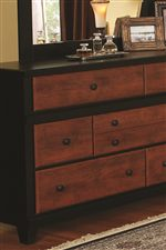 Cinnamon Drawer Fronts & Black Tapered Feet