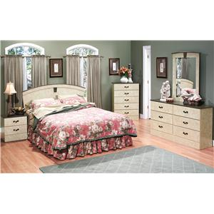Perdue Sicilian Marble Traditional Faux Marble 6-Drawer Dresser ...