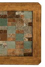 Multi-Toned Slate Tiles on Table Tops and Clipped Corner Details
