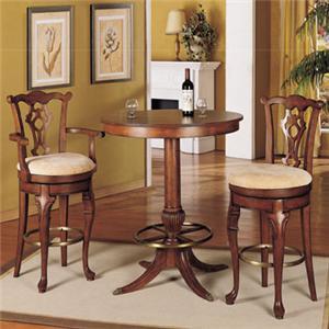 Powell Jamestown Landing 30.75 inch swivel armless stool with high back