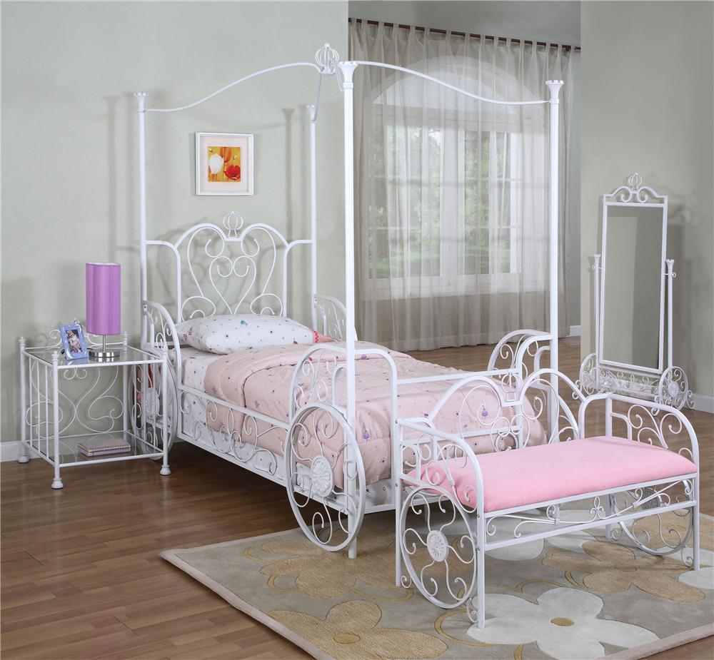 Powell Princess Princess Castle Twin Bunk Bed with Tent and Slide | Wayside Furniture | Loft Beds & Powell Princess Princess Castle Twin Bunk Bed with Tent and Slide ...