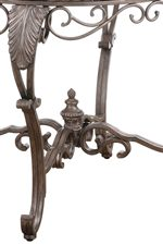 French Ornamentation with Distressed Bronze and Copper Undertones