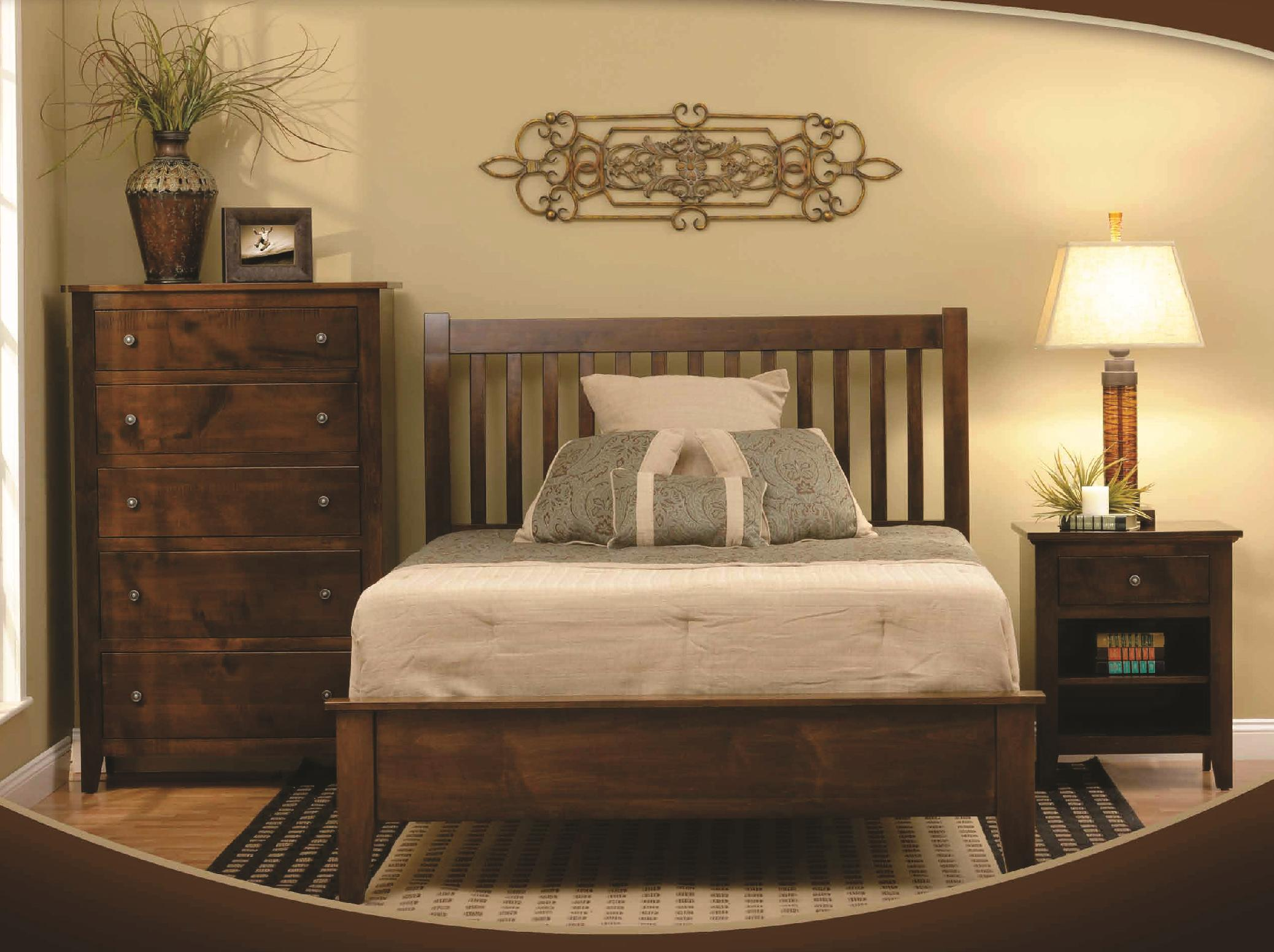 rotmans amish huntington shaker queen shaker-style solid wood bed