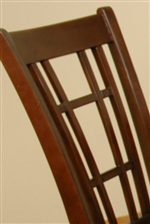 Mission Style Slatted Chair Back