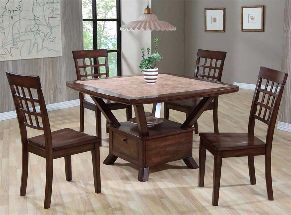 Primo International 8189 Tile Top Table With Storage Base Bullard Furniture Dining Room Table Fayetteville Nc
