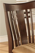 Mission Style High Slatted Chair Back