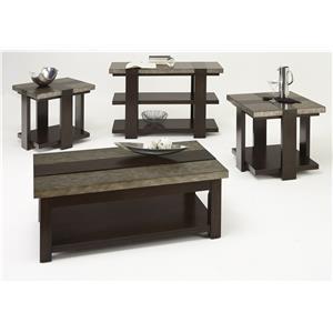 Progressive Furniture Concourse Contemporary Chairside Table