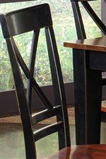 X-Shaped Chair Backs
