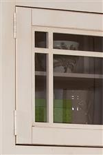 Glass Doors with Wood Trim