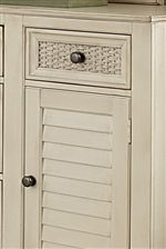Abaca-Woven Drawer-Fronts and Shutter-Faced Doors