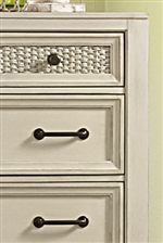 Deep Framed Moldings Provide Interests on Inset Drawers