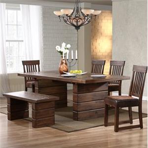 Progressive Furniture Maverick Simply Designed Rustic Dining Bench