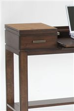 Sofa Table Converts to Desk Space