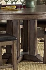 Solid Rubberwood Pedestal