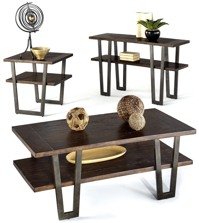 Progressive Furniture Sedona Modern Rustic Sofa Table with